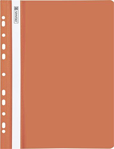 Baier Schneider &-Cartella per ufficio, in plastica, con fori, 240 x 313 mm, colore: arancione