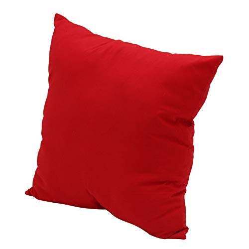 Queiting Cushion Cover Home Decor Bed Sofa Throw Pillow Case Plain Dyed Cushion Cover Square Cushion Cover Case Sofa Home Decor Plain Dyed Cotton Pillow Case Red