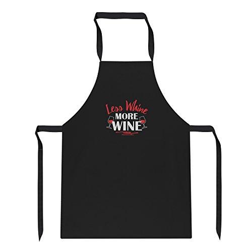 Texlab - Less Whine More Wine - Schürze, schwarz