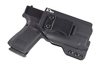 Fierce Defender IWB Kydex Holster Glock 19 23 32 w/APLc The Winter Warrior Series -Made in USA-  Black