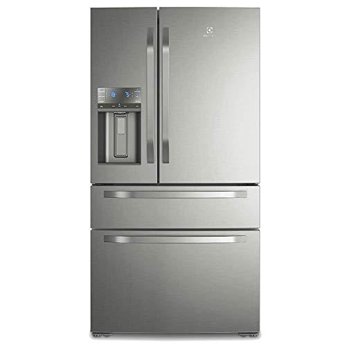 Refrigerador Electrolux DM90X French Door com Dispenser de Água e Gelo na Porta 540L Platinum - 110V
