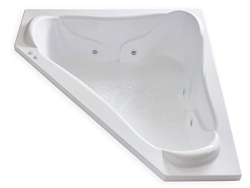 Carver Tubs - NW7272 - 6 Jet Whirlpool - 72'L x 72'W x 21'H - White Acrylic Two Person Drop In...