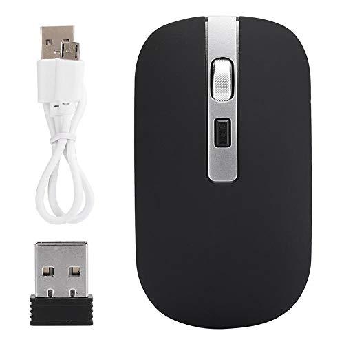 Tosuny Drahtlose Maus, USB-Ladecomputermaus mit 1600 DPI hochauflösender 2,4-G-Funkmaus für Büro- & Spielezwecke.(Schwarz)