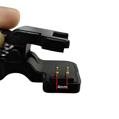 Ver Cable De Carga 2 / 3pin 4/5 / 6mm Adaptador De Pulsera Inteligente Portátil Cargador Clip Negro 4 mm 2 Pines