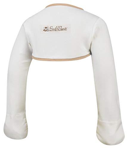 ScratchSleeves   Moufles anti-grattage qui restent en place pour bébés & bambins souffrant de démangeaisons   Crème/Cappuccino   9-12m