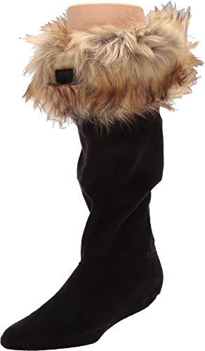 HUNTER Original Tall Faux Fur Cuff Boot Socks tawny, Größe:XL