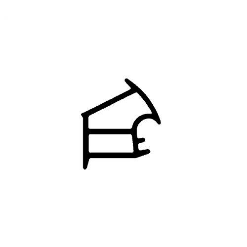 DIWARO® Stahlzargen-Dichtung SZ156 | weiß oder grau | 5 lfm für Haus- und Innentüren. Zum Schallschutz und abdichten der Tür. Bestehend aus TPE (Thermoplastischen Elastomer) (weiß)