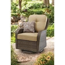 All-Motion Beige Outdoor Wicker Swivel Glider Chair