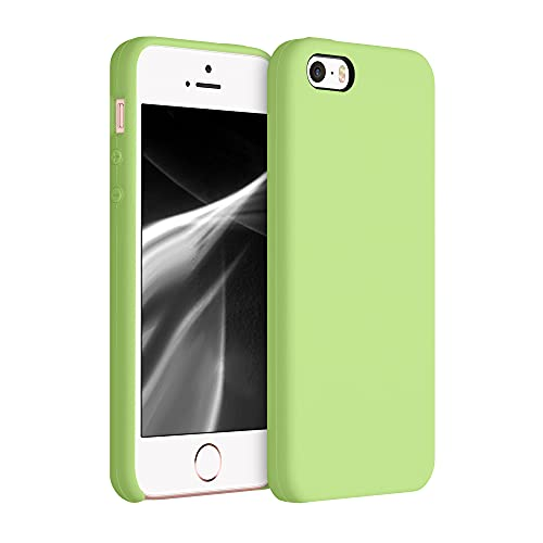 kwmobile Cover Compatibile con Apple iPhone SE (1.Gen 2016) / 5 / 5S - Cover Custodia in Silicone TPU - Back Case Protezione Cellulare Color tomatillo