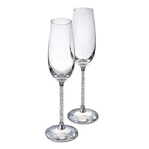 XiYou Juego de té Vaso de champán con Diamantes llenos de Cristal Europeo Copa de Vino Tinto Juego de té Tetera Bandeja de Porcelana de Hueso de cerámica Fiesta del té de la Tarde, Regalo