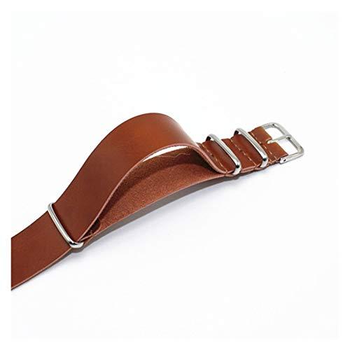 YUSWPX Banda de Reloj Correas de Cuero 18 mm 20 mm 22 mm 24 mm Bandas de Relojes Marrones Negros para Mujeres Relojes de Reloj de Reloj Pulsera de Correa Accesorios