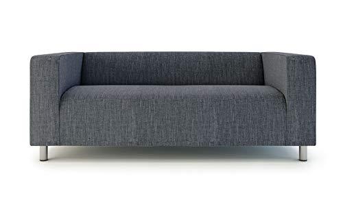 TLY Klippan Loveseat Cover 2 Seater Sofa Cover For Ikea Klippan Sofa Slipcover Snug Fit (Dark Grey)