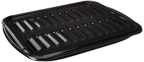 Whirlpool 4396923 Porcelain Broiler Pan and Grid, Black