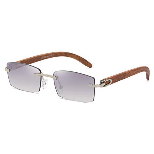 Gafas de Sol sin Montura Hombres 2020 Nueva Lente de Moda Trend Luxury Frameless Sun Glasses Marco Gafas (Lenses Color : A)