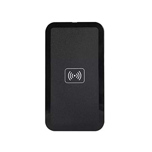 fuchsiaan Cargador rápido inalámbrico de teléfono inteligente, placa de carga de inducción magnética para coche y hogar, compatible con iPhone, otros teléfonos Android, equipo negro