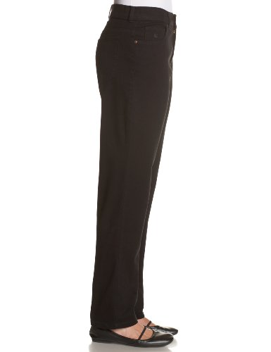 Gloria Vanderbilt Plus Size Women's Amanda Classic Tapered Jean, Black, 20W