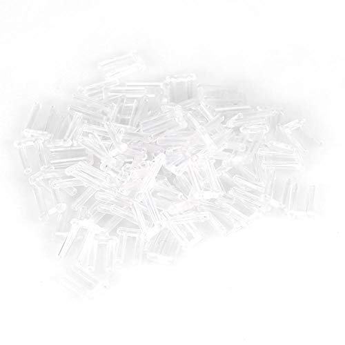 Accesorios de gafas sin montura, 3 tipos Nuevo Compresión Plástico de la manga de montaje para gafas sin montura Accesorios Herramientas - 100 piezas(1.6 * 0.8 * 0.7)