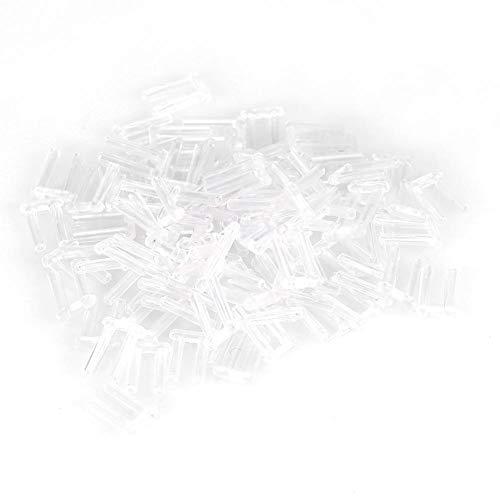Zubeh?r f¨¹r randlose Brillen, 100 Stk. Randlose Rahmenh¨¹lsen Durchsichtige Kunststoff-Druckh¨¹lsen f¨¹r randlose Brillen Befestigungszubeh?r Werkzeuge(1,4 * 0,8 * 0,7)