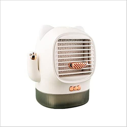 Mini enfriador de aire acondicionado port aacute til humidificador ventilador y purificador con 3 velocidades ajustables 7 luces LED hogar y la oficina