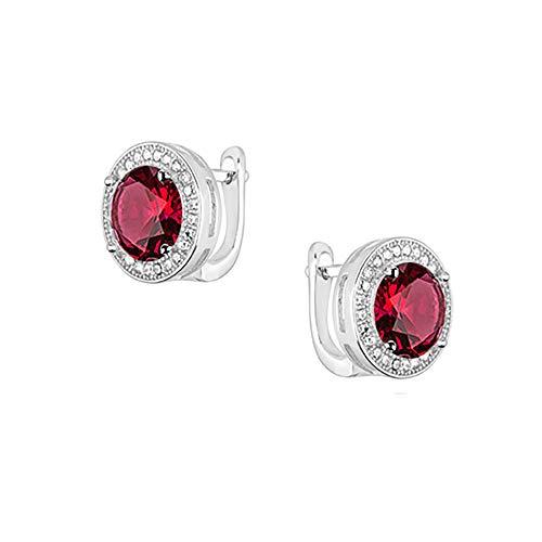 **Beforya Paris** - Ohrringe - *Diamant Glanz* - Silber 925 - Farben Varianten - Ohrringe mit Zirkonia von Swarovski® - Schön Damen Ohrringe mit Schmuckbox (Siam)