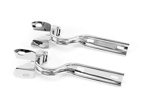 Drake Muscle Cars Stainless Steel Hood Hinges Compatible with 1979-1993 Ford Mustangs, Model D9ZZ-16796-S