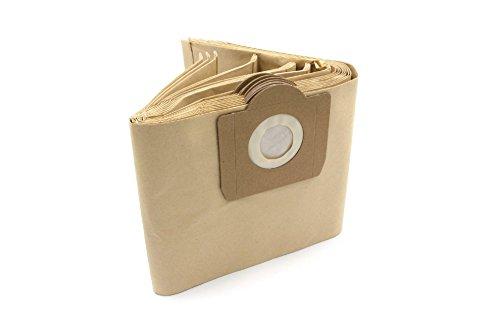 vhbw - 10 Stück - Papierfilterbeutel Papierfiltertüten Staubsaugerbeutel Set für FIF Top Craft NT 0506