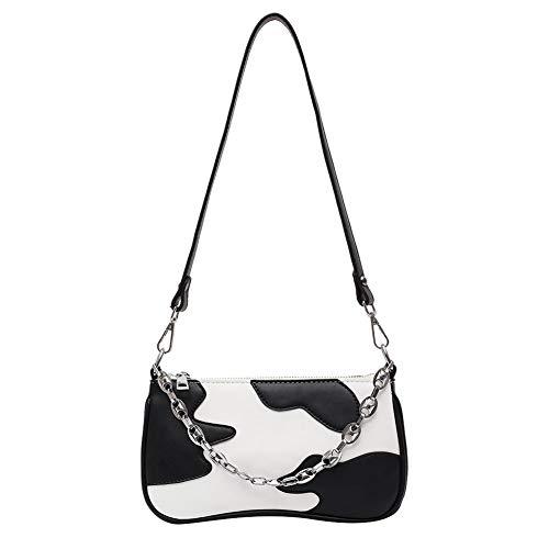 Weichuang - Bolso de mano para mujer, estilo vintage, de piel sintética, con patrón de cocodrilo, informal, sólido, pequeño, bolso de mensajero, para regalo femenino, para mujer (color: J)