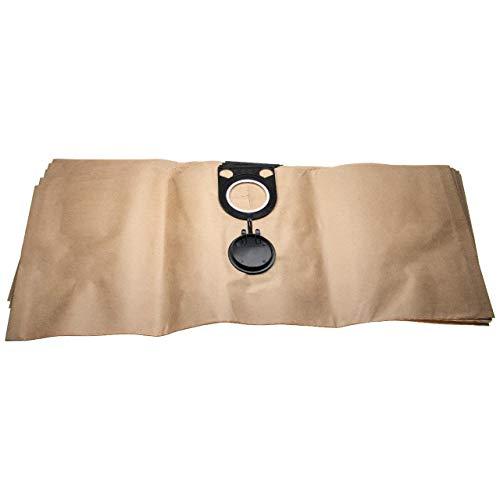 vhbw 5x Staubsaugerbeutel kompatibel mit Metabo ASA 1200, ASA 1202, ASA 32 L Staubsauger - Papier, 76.3cm x 30.1cm, braun