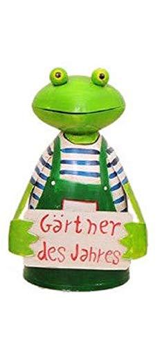 Bavaria-Home-Style-Collection kikker hekfiguur tuinier hek lattenfiguur hek kruk palenkruk decoratief figuur decoratie voor tuin vijver grote keuze (tuinders van het jaar)