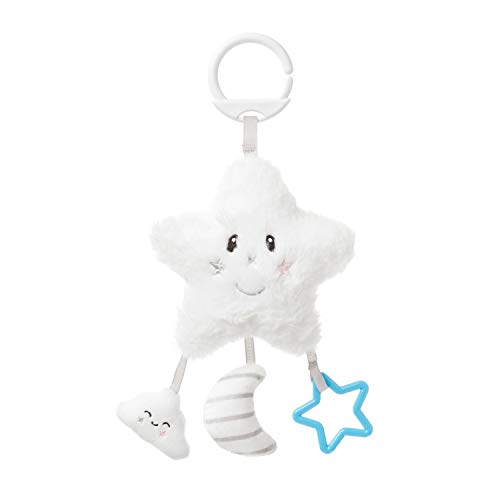 Nuby Baby Pram Toy, Suitable for Newborns, Star Design, White