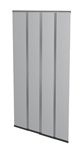 Windhager Insektenschutz Lamellenvorhang Türvorhang, mit vormontierten Beschwerungsleisten, individuell kürzbar, mit Klett- und Abdeckband, 100 x 220 cm, anthrazit, 03793