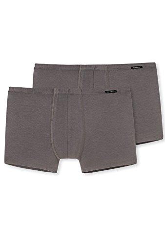 Schiesser Herren (2er Pack) Shorts Unterhose mit weichem Bündchen, Schwarz (schwarz 000), X-Large