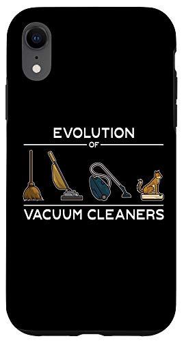 iPhone XR Funny Evolution of Vacuum Cleaners - Cat Robot Vacuum Clean Case