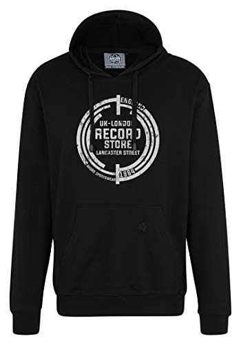 Ahorn Sportswear Sudadera con capucha Record de tallas grandes, color blanco y negro Negro XXXL