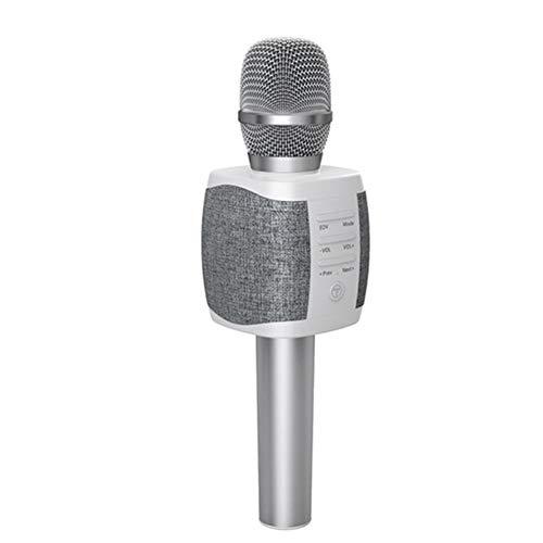 FMC Karaoke del Micrófono De Mano Inalámbrico Bluetooth para El Teléfono Celular/Canto De TV Soporte De Tarjeta TF