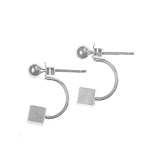 iszie jewellery sterling silver trendy cube earrings,Cube earring jackets, back and front earrings
