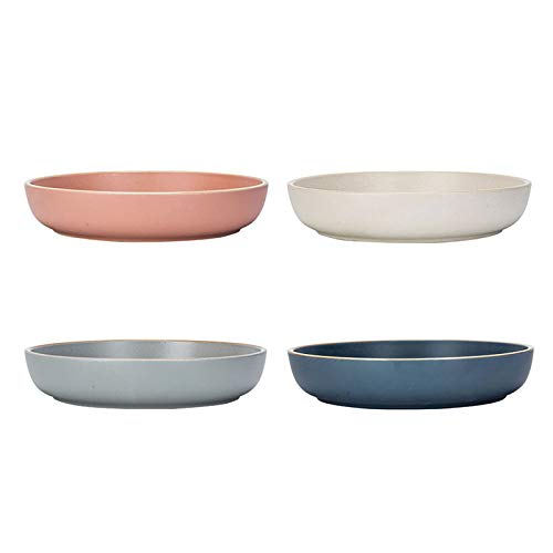 MDZF SWEET HOME 8-Inch Deep Porcelain Dinner Plates Set Pizza Pasta Bowls Matte Glaze Serving Plates Salad Dessert Bowls - 25 Oz - Set of 4