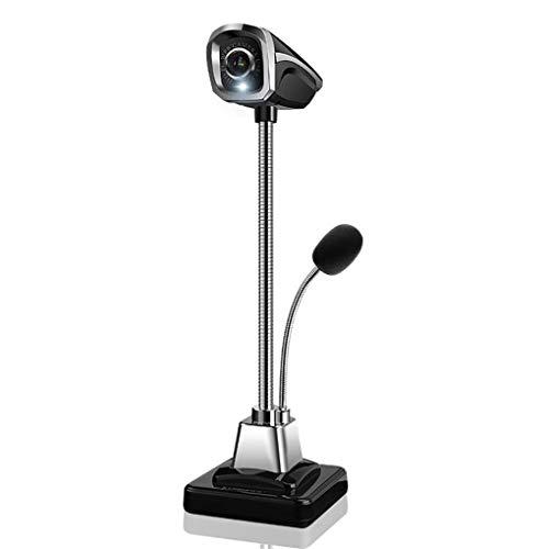 HAR Informática, 360 ° Ajuste Y Micrófono Libre De Ajuste Automático De Luz De Relleno De Soporte De Windows 2000 / XP / 10 / Mac iOS/Linux Adecuado para Videoconferencias/En Vivo