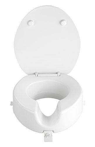 WENKO Premium WC-Sitz Secura - mit Easy-Close Absenkautomatik, Duroplast, 41.5 x 19 x 44 cm, Weiß