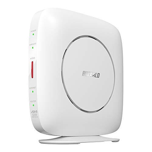 バッファロー WiFi ルーター 無線LAN 最新規格 Wi-Fi6 11ax / 11ac AX3200 2401+800Mbps 日本メーカー 【iPhone12/11/iPhone SE(第二世代) メーカー動作確認済み】 WSR-3200AX4S/NWH