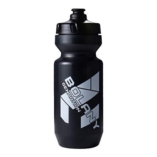 Botella de agua para ciclismo, botella de agua portátil esencial para deportes al aire libre, para ciclismo, bicicletas de montaña (negro)