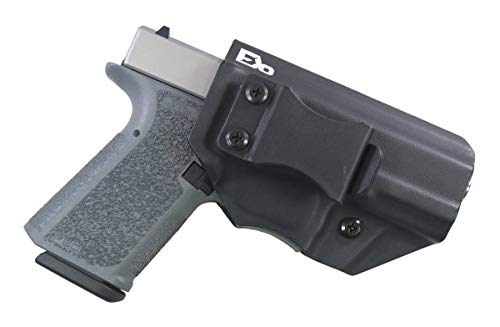FDO Industries -Formerly Fierce Defender- IWB Kydex Holster Polymer 80 Compact (PF940C) (19/23) -The Winter Warrior Series -Made in USA- (Black)