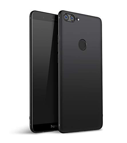 Olliwon Huawei Honor 9 Lite Hülle, Dünn Leichte Schutzhülle Schwarz Silikon TPU Bumper Hülle Cover für Huawei Honor 9 Lite