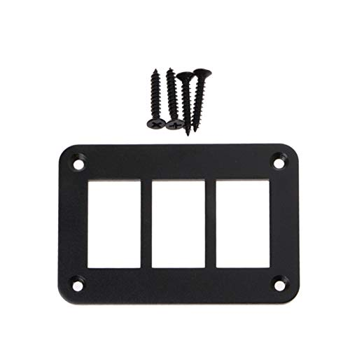 YSJSPKK Interruptor basculante 2/3/4/6 Interruptor de Tres vías de Aluminio Eje de balancín de Soporte del Panel de Vivienda for el Tipo Auto Parts Piezas Interruptores (Color : 3 Way)