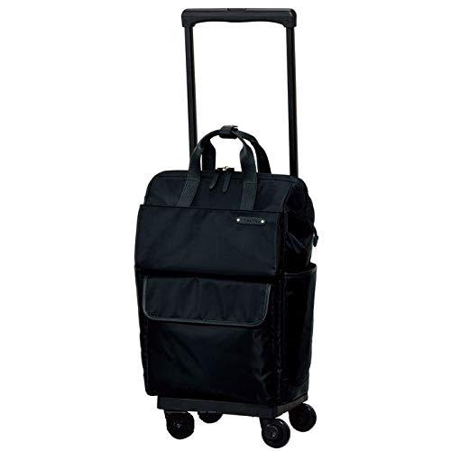 ?[スワニー] キャリーバッグ D-370 カルポ (L21) ブラック(4輪ストッパー付)三愛オリジナル折りたたみサブバッグ付