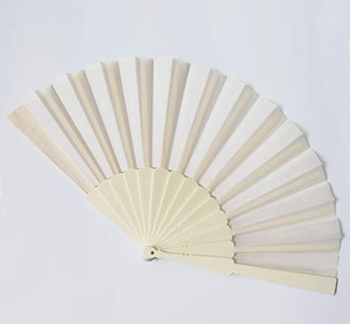 allforyou Plástico Partido Portátil Mano Bailar Ventilador Chino Decoración Japonés Boda Plegable Bajo Llave Regalo Simple Sólido Multicolor 1 PC