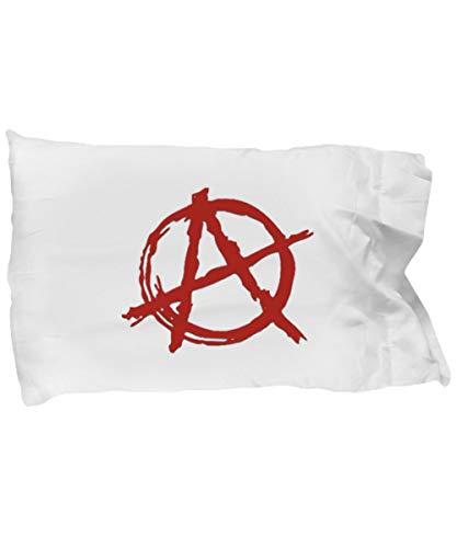 Toll2452 Punk-Rock Red Anarchy A Symbol White - Funda de almohada para Ancom Rock and Roll Anarcho Communist