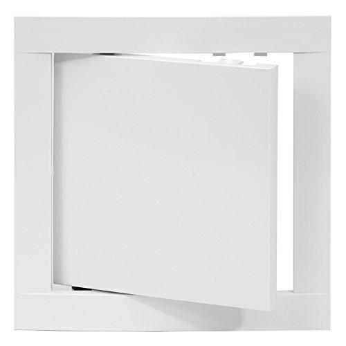 REPA MARKET Access Panel Door White Opening Flap Cover Plate - Box Door Lock - Door Latch (12x12, Plastic)