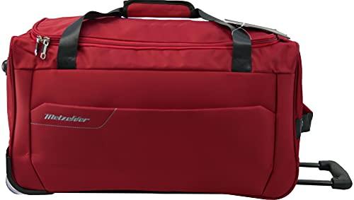 METZELDER - Bolsa de viaje con ruedas, Rojo (Red), Grande Taille (Soute)_73x34x36cm_83L_2,8kg, Bolsa de viaje