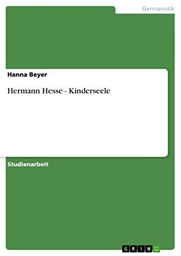 Hermann Hesse - Kinderseele (German Edition)
